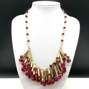 Talbots Glass Crystal Beaded Statement Necklace